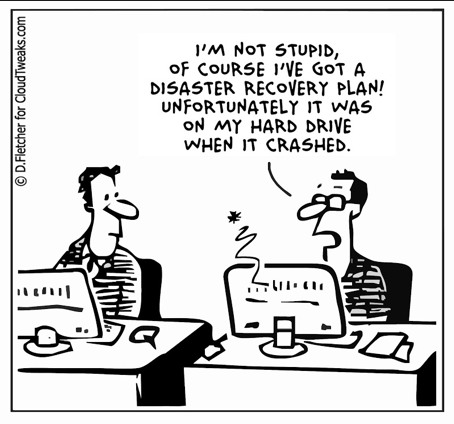 Data disaster cartoon